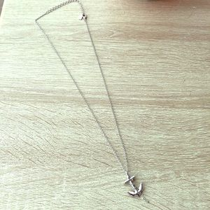 Jewelry - Obey Anchor Silver Necklace